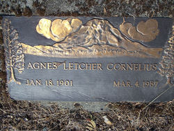 Agnes <i>Letcher</i> Cornelius