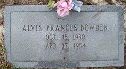 Alvis Frances Bowden
