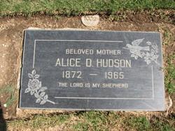Alice Dixon <i>Hugg</i> Hudson