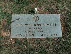 Foy Weldon Nivens