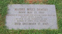 Maidee <i>Miles</i> Damsky