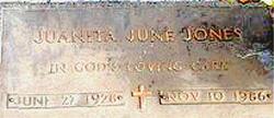 Juanita June <i>Beshears</i> Jones