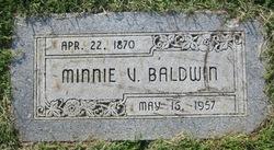 Minerva Viola Minnie <i>Brooks</i> Baldwin