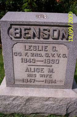 Alice May <i>Beckwith</i> Benson