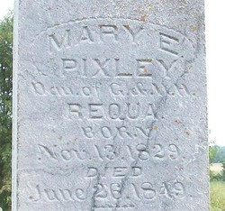 Mary E <i>Requa</i> Pixley