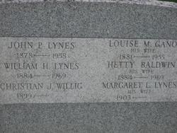Louise M <i>Gano</i> Lynes