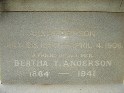 Bertha <i>Thompson</i> Anderson
