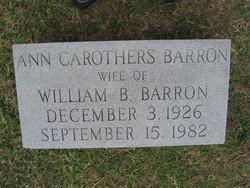 Ann <i>Carothers</i> Barron