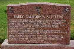 Early California <i>Settlers</i> Memorial