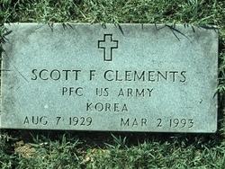 PFC Scott F Clements