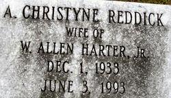 A. Christyne <i>Reddick</i> Harter