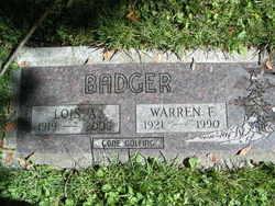 Warren F Badger