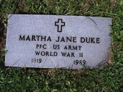 PFC Martha Jane Duke
