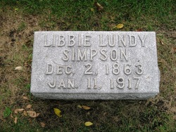 Elizabeth Libbie <i>Lundy</i> Simpson