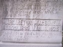 Margaret Rebecca <i>Walker</i> MacDonell