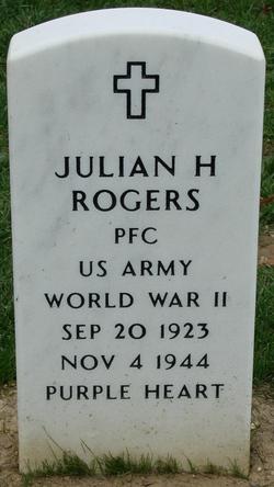 PFC Julian Harold Rogers