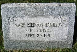 Mary Bright <i>Robinson</i> Hamilton