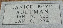 Elise Janice <i>Boyd</i> Aultman