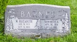 Elizabeth M <i>Holman</i> Barnes