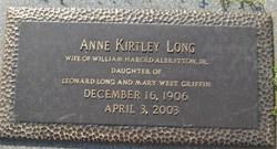 Anne Kirtley <i>Long</i> Albritton