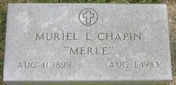 Muriel L Merle <i>Pearsall</i> Chapin