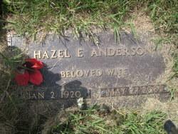 Hazel E Anderson