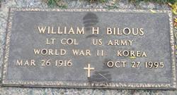 William H Bilous