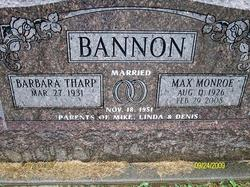 Barbara <i>Tharp</i> Bannon