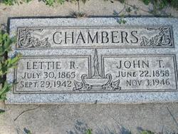 Lettie Rebecca <i>Stebleton</i> Chambers