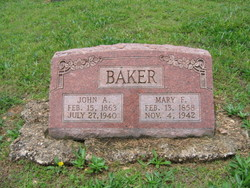 Mary Frances Elner <i>Robertson</i> Baker