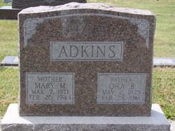 Mary M. <i>Fritzer</i> Adkins