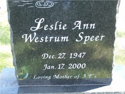 Leslie Ann <i>Westrum</i> Speer