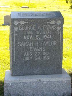 Sarah Harriet <i>Taylor</i> Evans