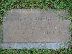 Frances <i>Spalding</i> Tubb