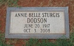 Annie Belle <i>Sturgis</i> Dodson