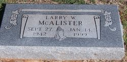 Larry W McAlister