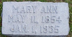 Mary Ann <i>Shoup</i> Anderson