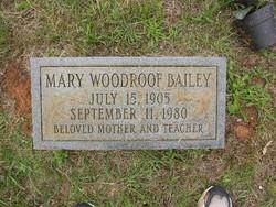 Mary <i>Woodroof</i> Bailey