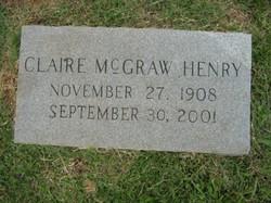 Claire <i>McGraw</i> Henry