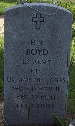 Roaden Floyd R.F. Boyd