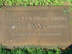 Anna Elizabeth <i>Carmichael</i> Adair