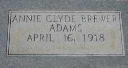 Annie Clyde <i>Brewer</i> Adams