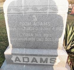 Lydia <i>Bilyeu</i> Adams