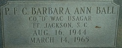 PFC Barbara Ann Ball