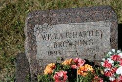 Willa E <i>Hartley</i> Browning