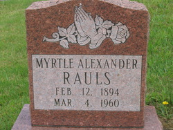Myrtle <i>Alexander</i> Rauls