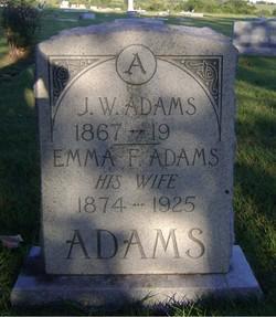 Emma F <i>Jones</i> Adams