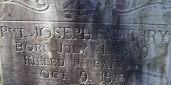 Pvt Joseph F Cherry