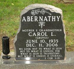 Carol L. <i>Groves</i> Abernathy