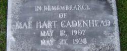 Vera Mae <i>Hart</i> Cadenhead